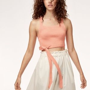 Aritzia Wilfred Cayenne Top in Coral Pink